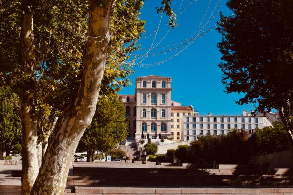 University campus brown building