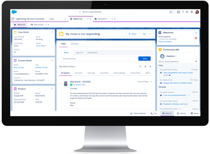 Salesforce Service Cloud - Service Console